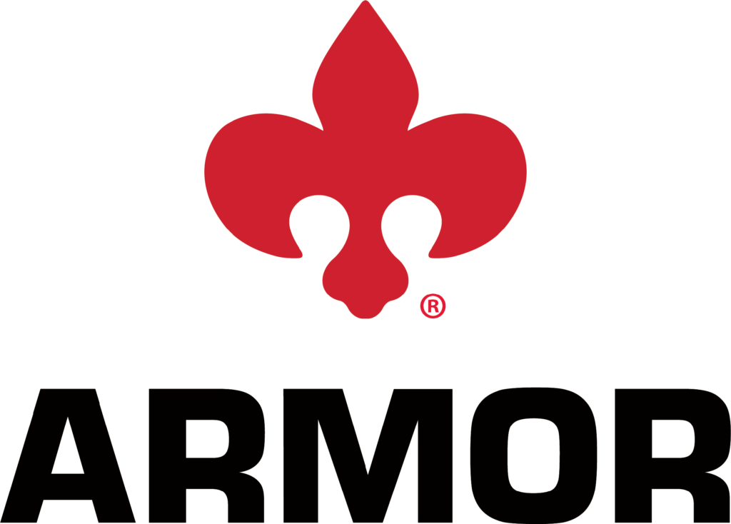 The Armor Group 2021 Logo with Fleur-de-dis